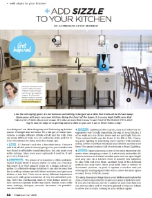 Add Sizzle to Your Kitchen - Magazine mentions for Royal Interior Design Ltd.