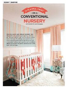 A Playful Twist on a Conventional Nursery - Magazine mentions for Royal Interior Design Ltd.