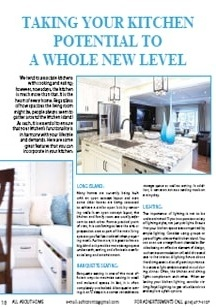 Taking Your Kitchen Potential to a Whole New Level - Magazine mentions for Royal Interior Design Ltd.