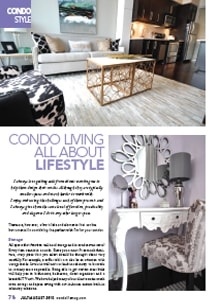 Condo Living All About Lifestyle - Magazine mentions for Royal Interior Design Ltd.
