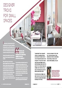 Designer Tricks for Small Spaces - Magazine mentions for Royal Interior Design Ltd.