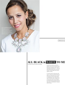 All Black and White to Me - Magazine mentions for Royal Interior Design Ltd.