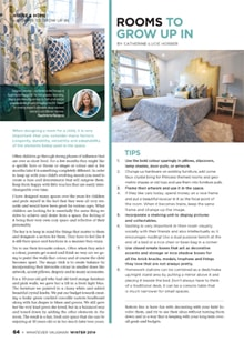 Rooms to Grow up in - Magazine mentions for Royal Interior Design Ltd.