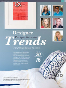 Designer Perspective on Trends - Magazine mentions for Royal Interior Design Ltd.