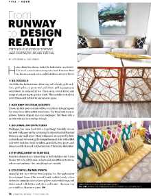 From Runway to Design Reality - Magazine mentions for Royal Interior Design Ltd.
