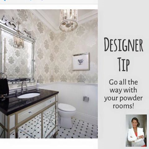 Go All the Way With Your Powder Rooms