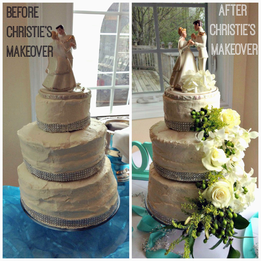Decorated Wedding Cake by Christie's Catering - Catering Services Renton