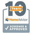 Home Advisor - 10 years Screened and Approved Badge