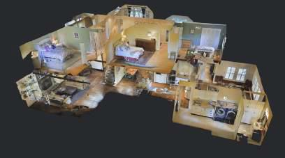 Matterport 3D Showcases Proprietary Dollhouse View Feature - Square Feet Photography and Floor Plans