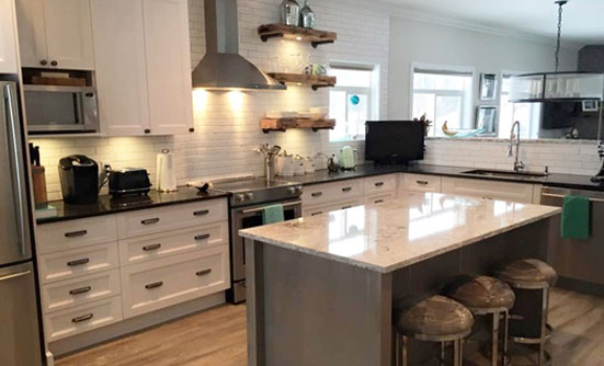 Well Furnished Kitchen with a Dining Table - Kitchen Renovation Mississauga by Urban Construction and Development