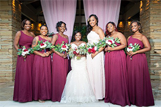 Bride and Bridesmaid - Wedding Packages Atlanta at Kris Lavender