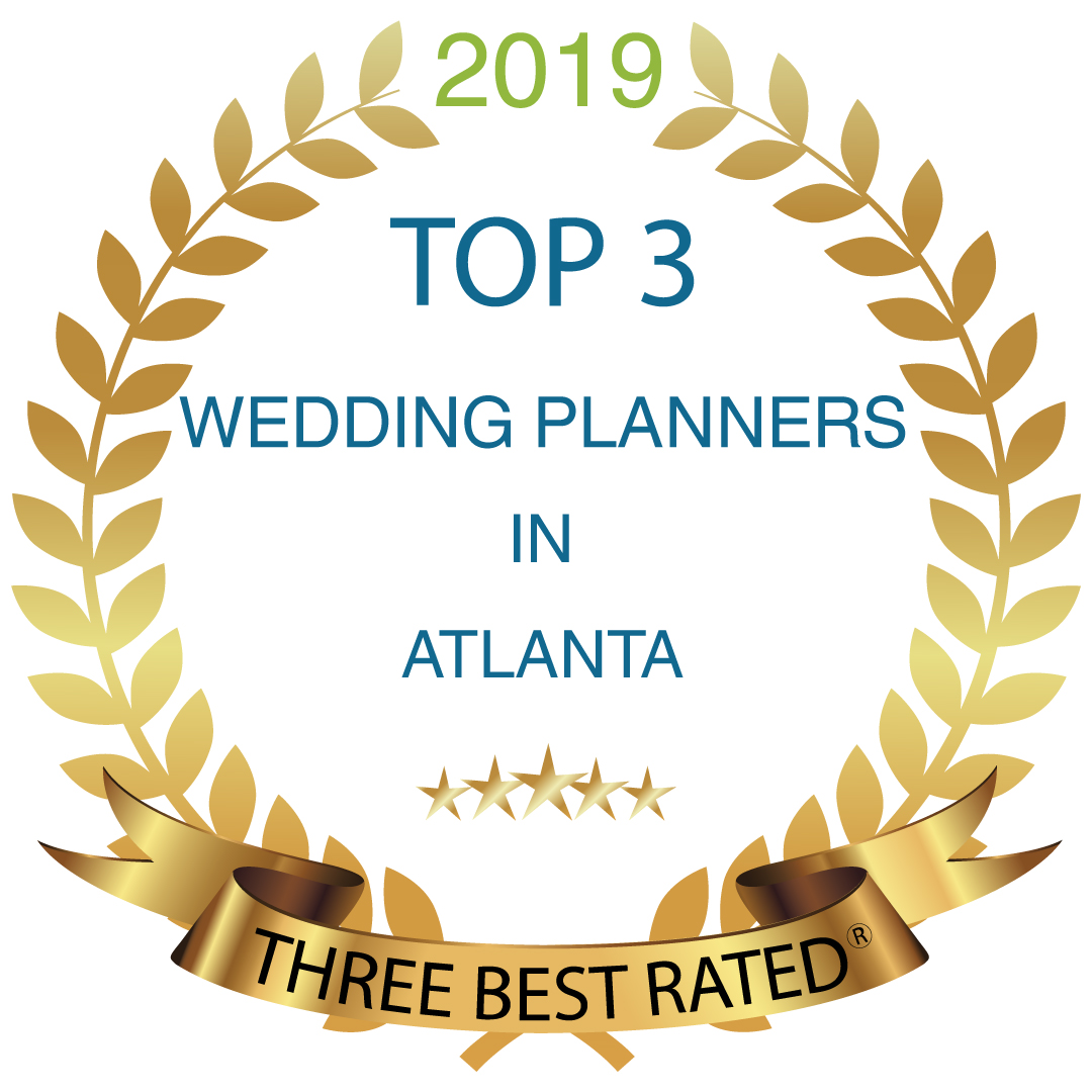 Top 3 Wedding Planners in Atlanta Badge