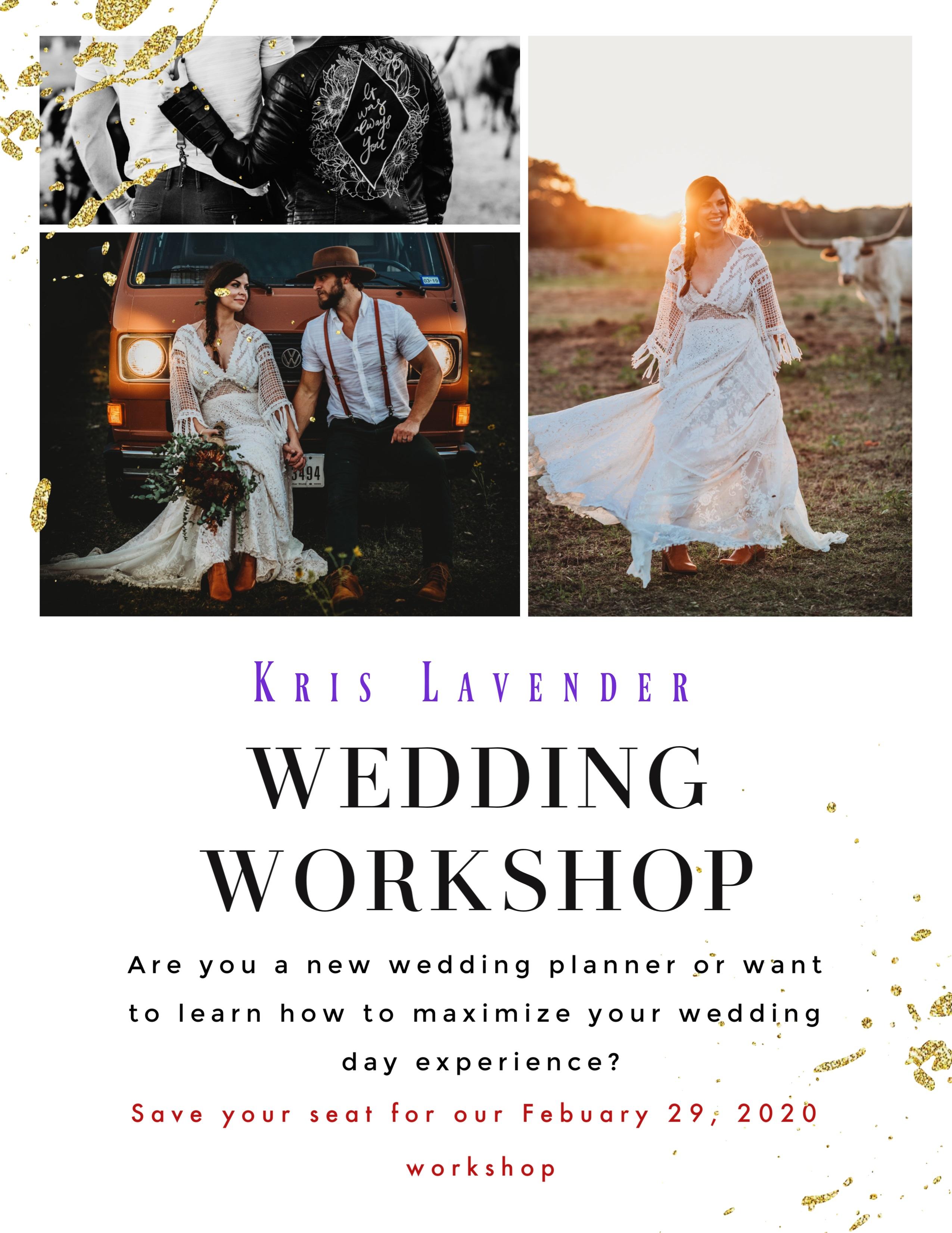 Kris Lavender Wedding Workshop