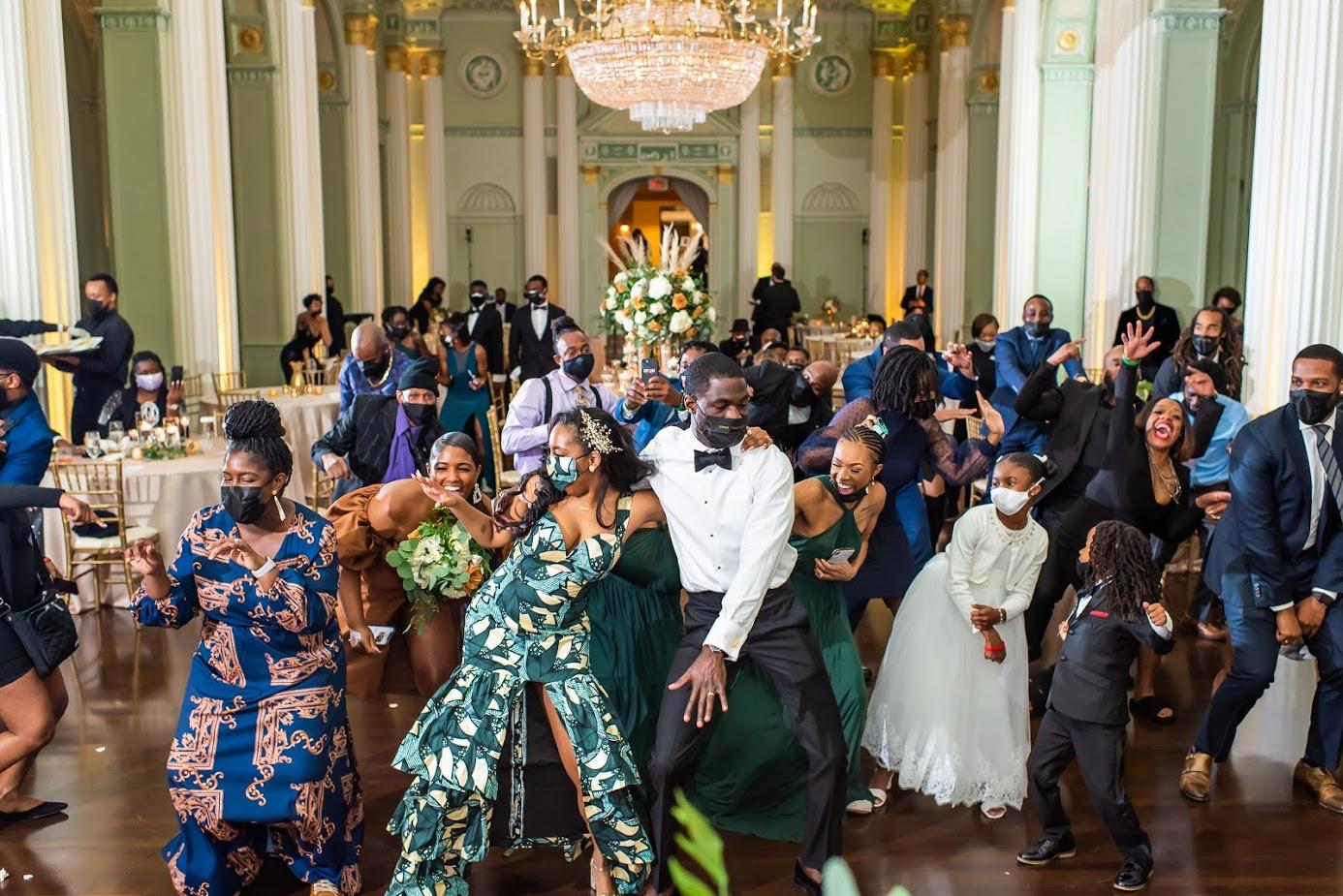 Bride and Bridesmaid Dancing - Wedding Planner Atlanta at Kris Lavender