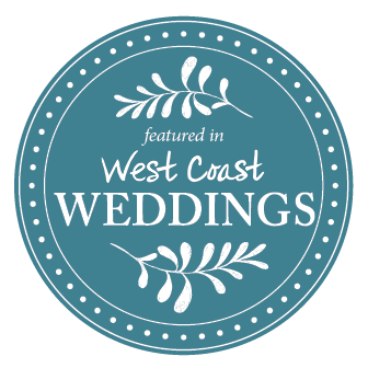 west coast wedding badge