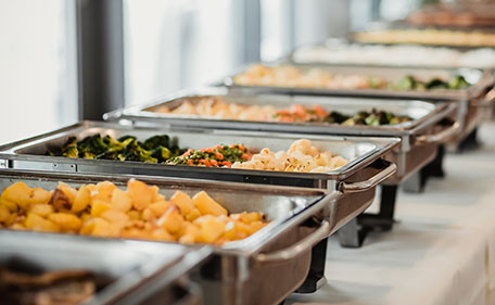 Food Kept in a Buffet Counter - Party Catering Services Santa Monica by Panzarello Catering