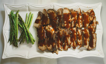 Food Served in a Stylish Tray - Catering Services Upland CA Panzarello Catering