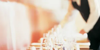 Glasses kept on a Table - Wedding Catering Services by Panzarello Catering