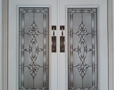 White Bordered Door - Door Insert  by Modern Window Fashion