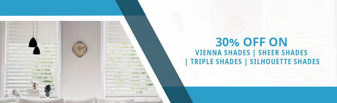 30 Percent Off on  Vienna Window Shades at Modern Window Fashion in Ontario