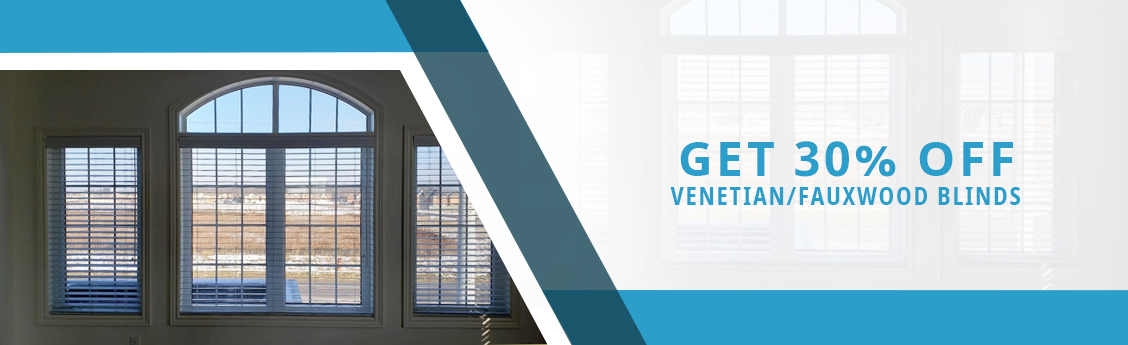 Get 30% Off Venetian/Fauxwood Blinds