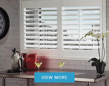 Vinyl California and Plantation Shutters Lincoln at Zebradualshades.com - Modern Window Fashion