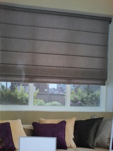 Brown Coloured Classic Roman Shades - Window Coverings Windsor by Modern Window Fashion