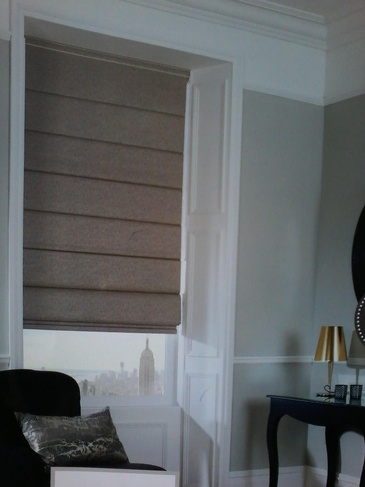 Classic Roman Shades - Window Coverings Ottawa by Modern Window Fashion