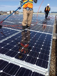 Residential Solar Panel Cleaning