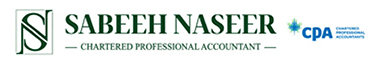 Sabeeh Naseer, Chartered Professional Accountant Logo