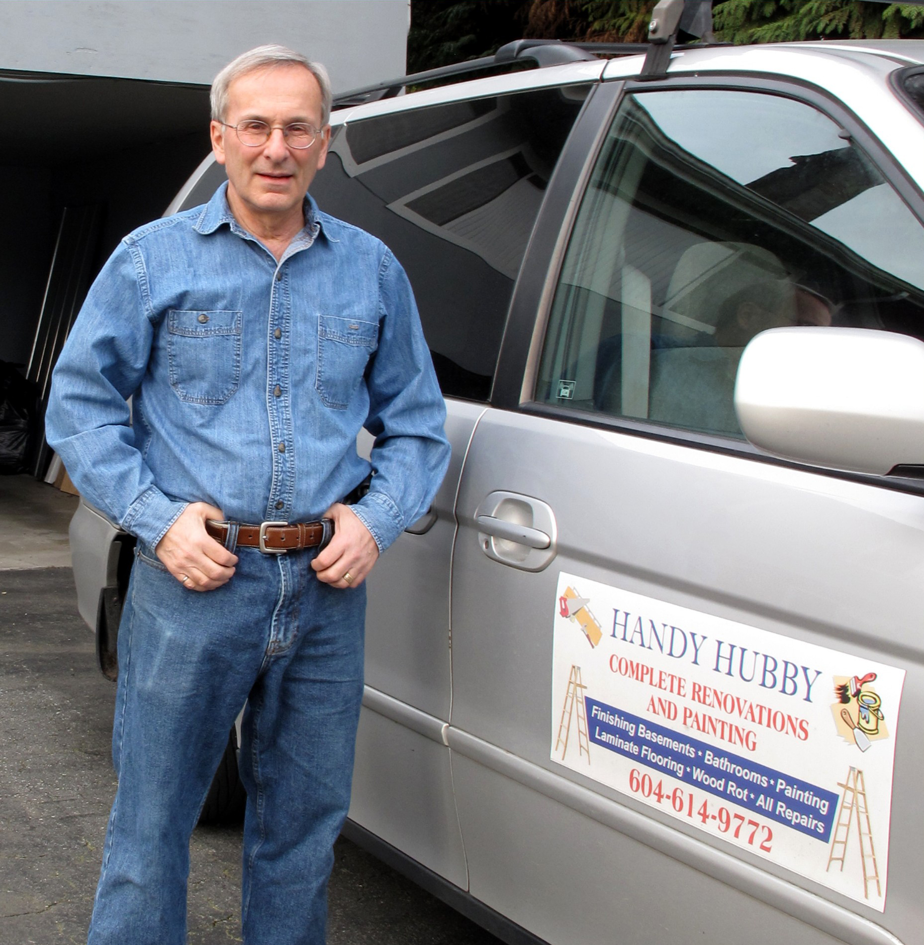 Man near a Van - Best Handy Hubby Renovation and Painting Services in Coquitlam, BC