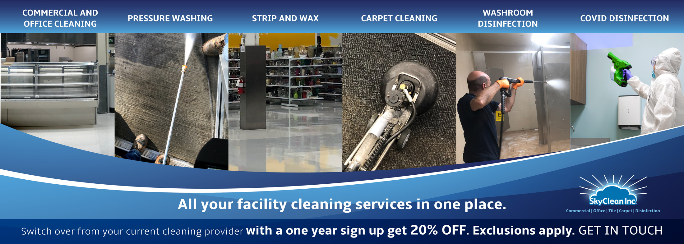All your Facility Cleaning Services at One Place - Commercial Cleaning Services London Ontario by SkyClean Inc.