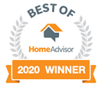 HomeAdvisor Top Rated Badge - Best of HomeAdvisor Award