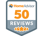 HomeAdvisor 50 Reviews Badge - Online Home Improvement Services
