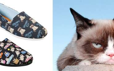 You can now wear the Internet-famous Grumpy Cat on your feet in the form of cute sneakers