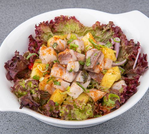 Poke Ceviche Official Website 7 pieces of sushi with a california roll. poke ceviche official website