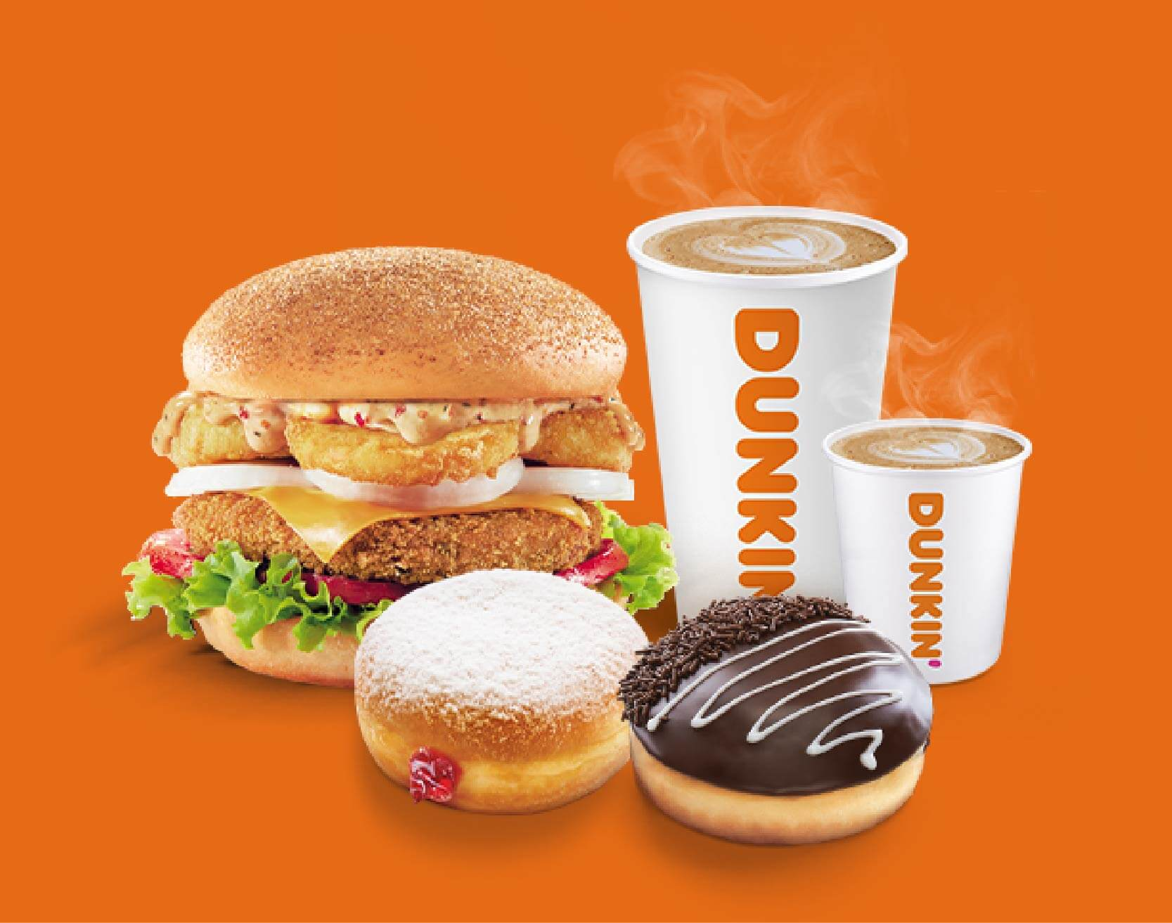 Order Freshly Brewed Coffee, Dunkin Donuts And Burger From Dunkin India