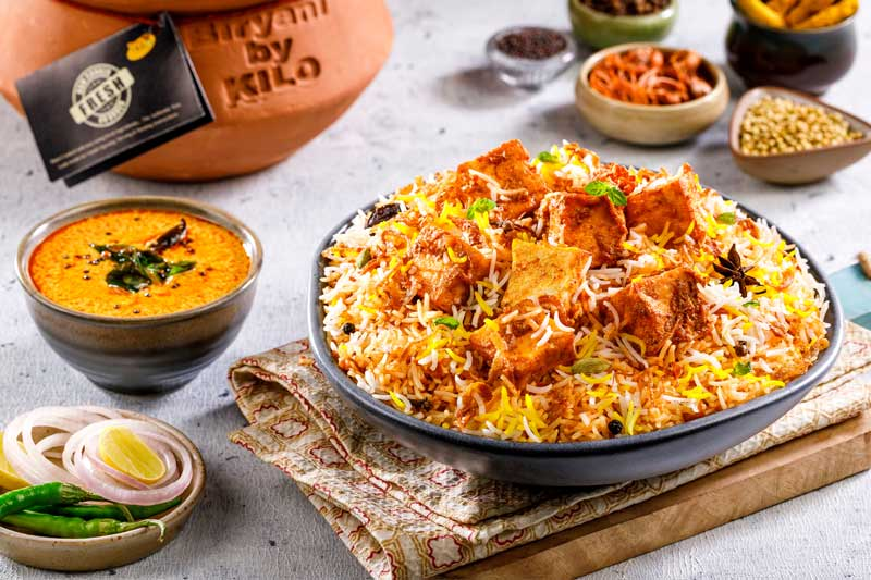 Hyderabadi Paneer Biryani