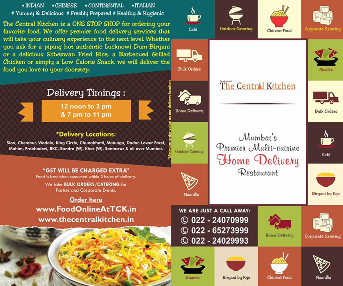 The Central Kitchen, Sion East, Mumbai | Home Delivery Menu