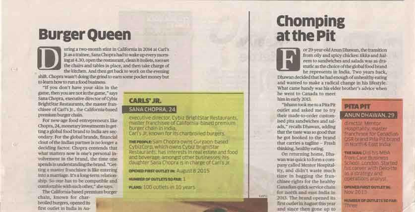 Carl's Jr. - In the News || Delhi NCR