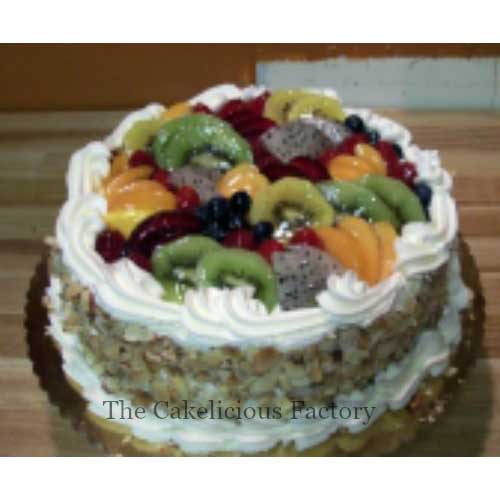 Fresh Fruit Almond Cake