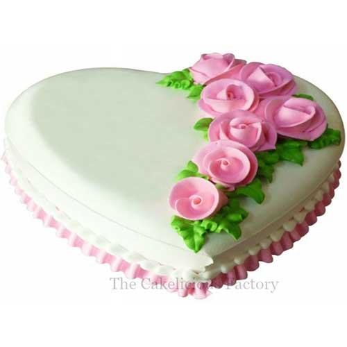 Heart Shaped Cake Design 1