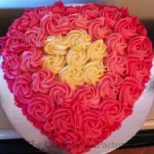 Heart Shaped Cake Design 2