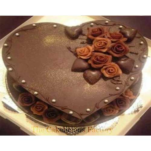 Heart Shaped Cake Design 3