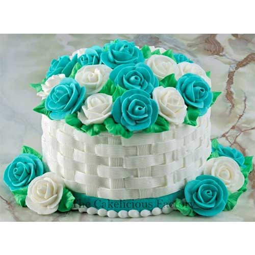 Flower Basket Pineapple Cake