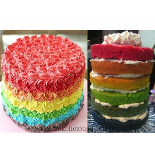 Rainbow Inside Outside Cake