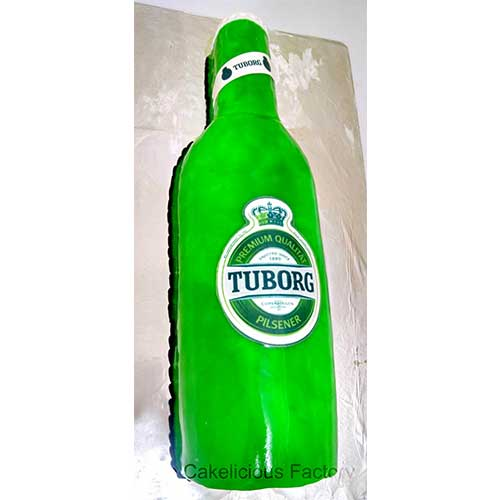 Tuborg Beer Bottle Cake