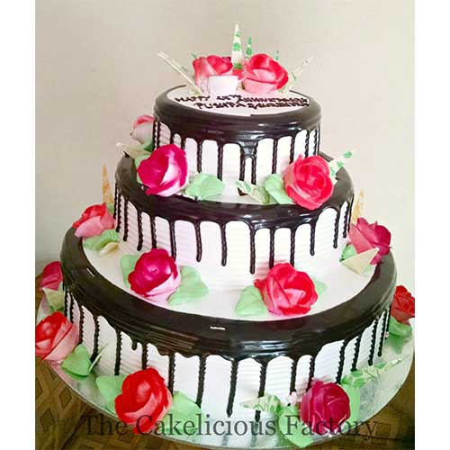 Black Forest Three Tier Cake
