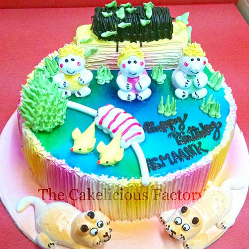 Kids Garden Cake