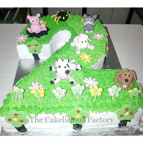 Number Cake Theme Four